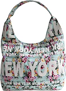 d921f180e0a78 Robin Ruth New York Floral City Cotton Hobo Shoulder Bag Light Blue
