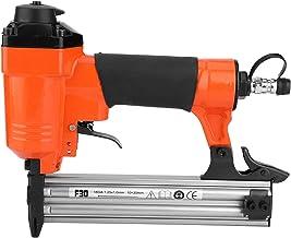 Clavadora de acabado, clavadora neumática de grado industrial F30, grapadora de pistola de clavos neumática, grapadora de clavos neumática para clavos rectos con manual de instrucciones