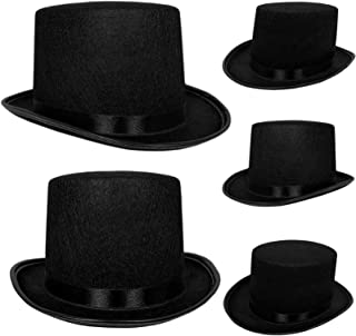 Top Hat Black Felt   One Size Magician Hat Costume   DIY Steampunk   Ultra Ringmaster Circus Hats   Dress Up Party Accessory   By Anapoliz
