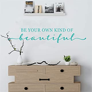 Wall Decal - Turquoise Decor - Inspirational Quote. for Girls Rooms, Bedroom, Fitting, Cloakroom, Fashion Lady, Easy to Re...
