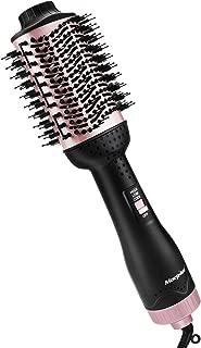 [2019] One-Step Hair Dryer Brush & Volumizer Hot Air Brush, 3-in-1 Hair Dryer Brush Styler for Straightening, Curling, Salon Negative Ion Ceramic Lightweight Blow Dryers Straightener Curl Hair Brush