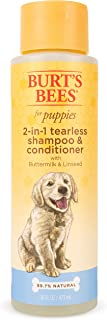Burt's Bees for Puppies Tearless 2 in 1 Shampoo and Conditioner with Buttermilk and Linseed Oil | Dog Shampoo, 16 Ounces