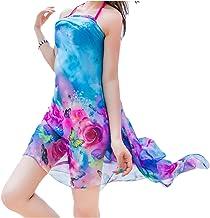 UK_Stone Strandkleider Damen Mandala Strandtunika Strandschal Strandtuch Wickelrock Wickeltuch Bikini Sonnenschutz Decke Cover-up mit Buntem Blumenmustern
