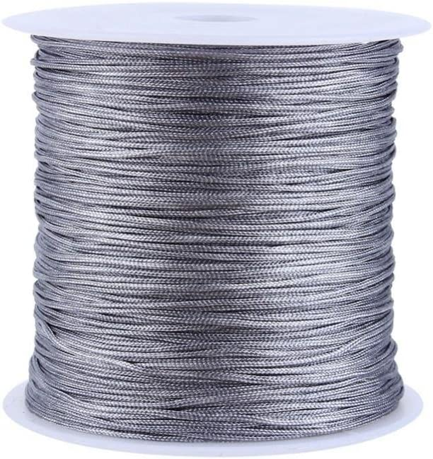 Gray Rattail Satin Nylon Trim Cord Chinese Bra Knot Necklace Max 59% OFF Ranking TOP5 for