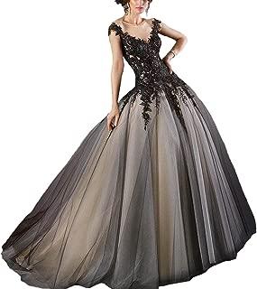 Fair Lady Gothic Black Ball Gown Wedding Dress Halter Beaded Appliques Long Evening Prom Dress 2018