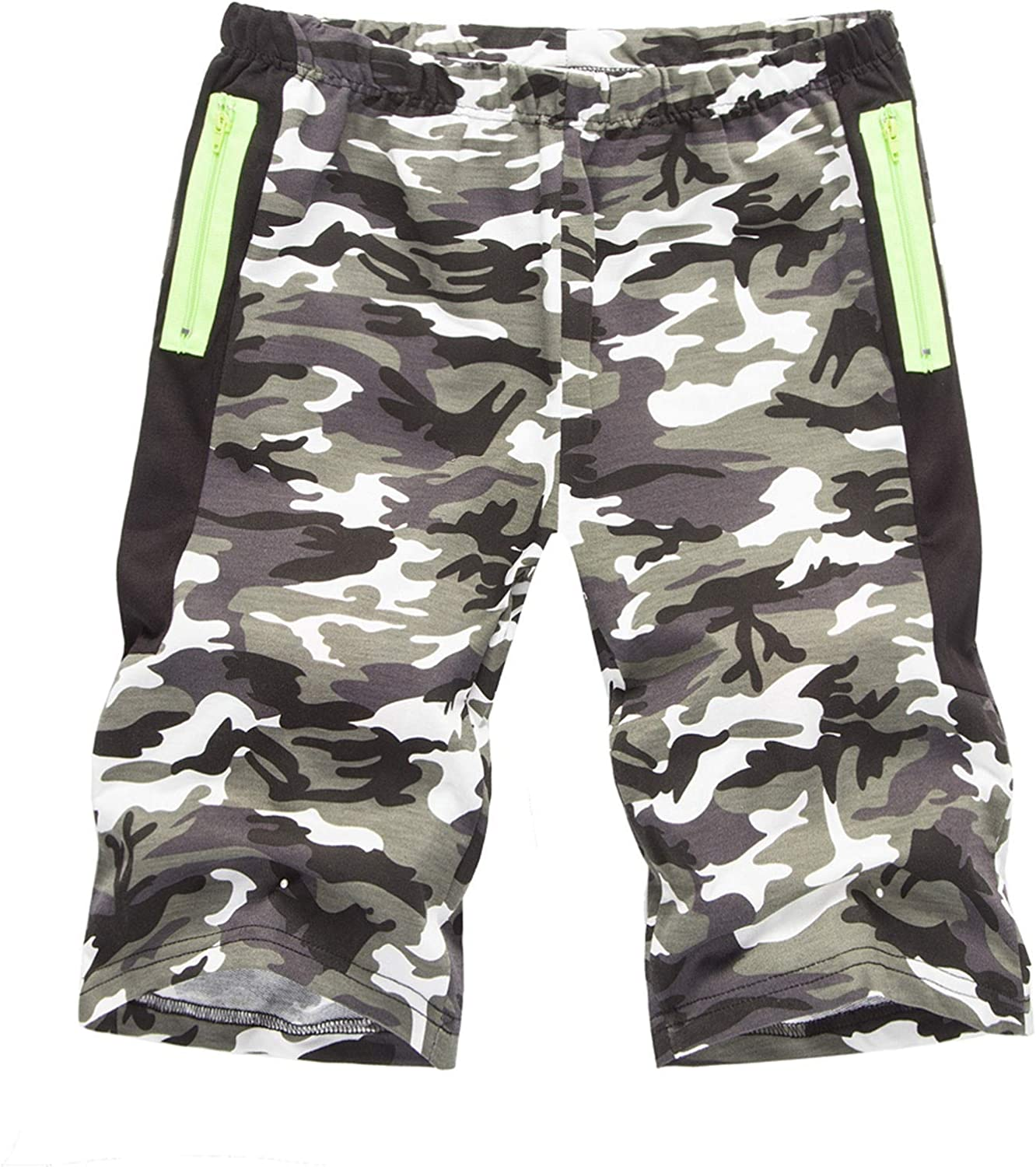 Muyise Camouflage Printed Sports Short Pants for Men Summer Casual Shorts Bodybuilding Running Jogging Short Pants