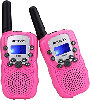 Retevis RT-388 Walkie Talkies for Kids Walkie Talkies Girls 22CH FRS 2 Way Radio Toys(2 Pack, Pink)
