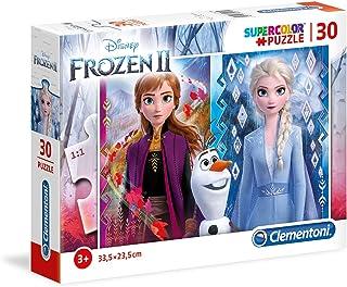 Clementoni- Supercolor Disney La Reine des Neiges 2-30 pièces-Puzzle Enfant-fabriqué en Italie, 3 Ans et Plus, 20251, Mult...