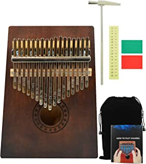 Kalimba Thumb Piano 17 Keys with Mahogany Portable African Mbira Gift for Kids Adult (Style4)