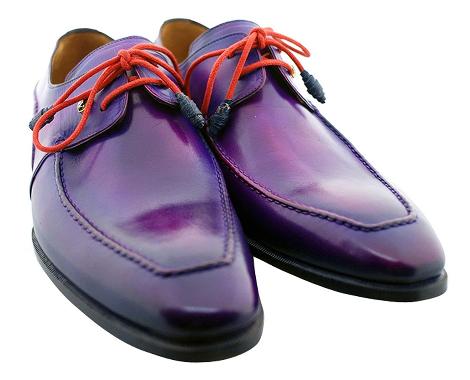 [Oscar William] Purple Temple Men's Luxury Classic Handmade Leather Shoes