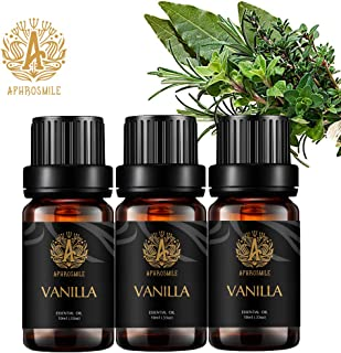 Aromatherapy Vanilla Essential Oil Set, 100% Pure Aromatherapy Vanilla Scent Essential Oils Set for Diffuser, Therapeutic ...