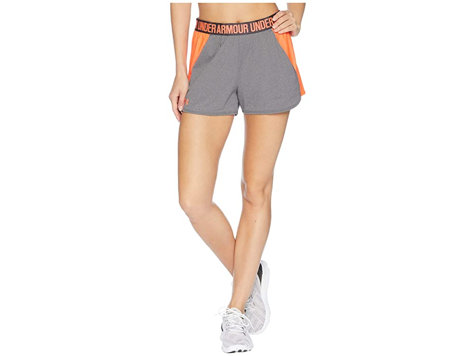 Under Armour New Play Up Shorts (Charcoal/After Burn/After Burn) Women's Shorts, Gray