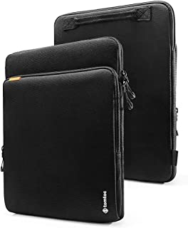 tomtoc 15-inch Cordura Laptop Sleeve Designed for 15 Inch New MacBook Pro with USB-C A1707 A1990, ThinkPad X1 Yoga (1-4th Gen), HP ACER Dell Chromebook 14, Waterproof Laptop Protective Case