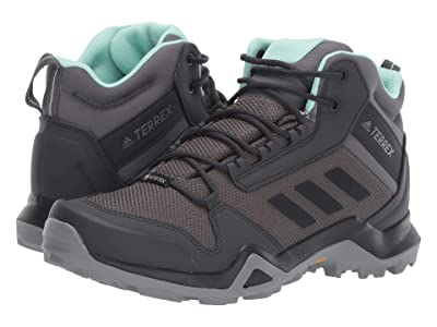 adidas Outdoor Terrex AX3 Mid GTX(r) (Grey Five/Black/Clear Mint) Women