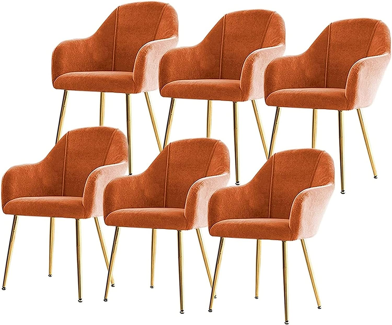 VEESYV Dining Chairs Set of 6 Velvet with Soft Max Max 90% OFF 81% OFF Cushion Back and