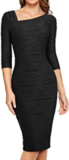 Women's 3/4 Sleeve Pencil Wear to Work Business Dress B461