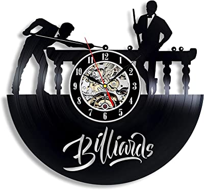 xiayanmei Billiards Vinyl Record Wall Clock - Accesorios de Billar ...