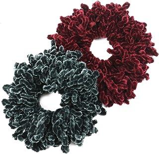 WEFOO 2Pack Volumising Scrunchie Big Hair Tie Ring Hijab Volumizer Khaleeji Headwear for Women
