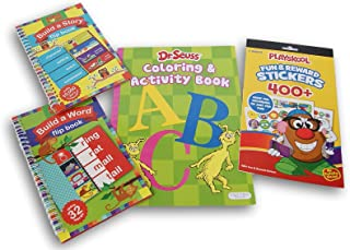 Workbooks Bundle Preschool - Dr. Seuss ABC Alphabet Coloring Book with Phonics Activity Hands-on Incentives