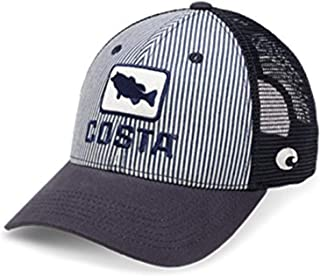 XL Fit Bass Hickory Striped Trucker Hat, Navy