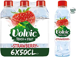 Volvic Natural Mineral Water, Strawberry - 500 ml (Pack of 6)
