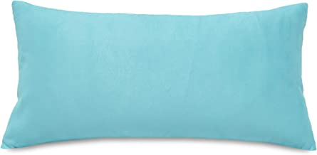 Aiking Home Collection Creative Luxury Faux Suede Decorative Pillow Cover - 12 by 24 Turquoise