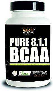 BCAA 8: 1: 1 500 Tabletas 1300MG Siguiente Nutrición Suplemento de Aminoácidos Ramificados 811 A Dosis de leucina SIN GLUTEN SIN LACTOSA Aumento de la Masa Muscular Promueve la Recuperación