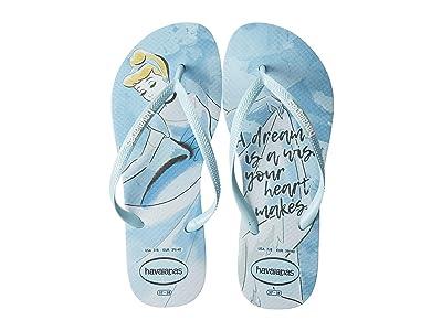 Havaianas Slim Princess Flip Flops (Blue Acqua) Women
