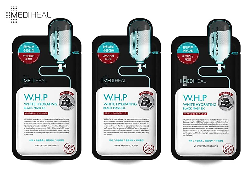 市民権シンボル織機[本物] メディヒール Mediheal W.H.P 美白水分 ミネラル 炭 マスクパック (10枚) [並行輸入品]