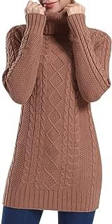 Rocorose Women's Turtleneck Sweater Long Sleeve Slim Fit Chunky Pullovers