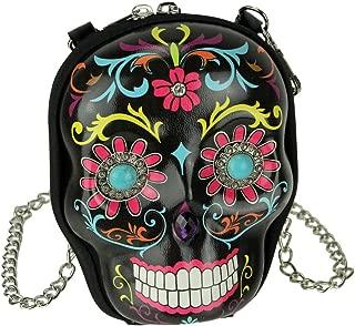 Sugar Skull Day of the Dead Cute Crossbody Purse Fashion Bag