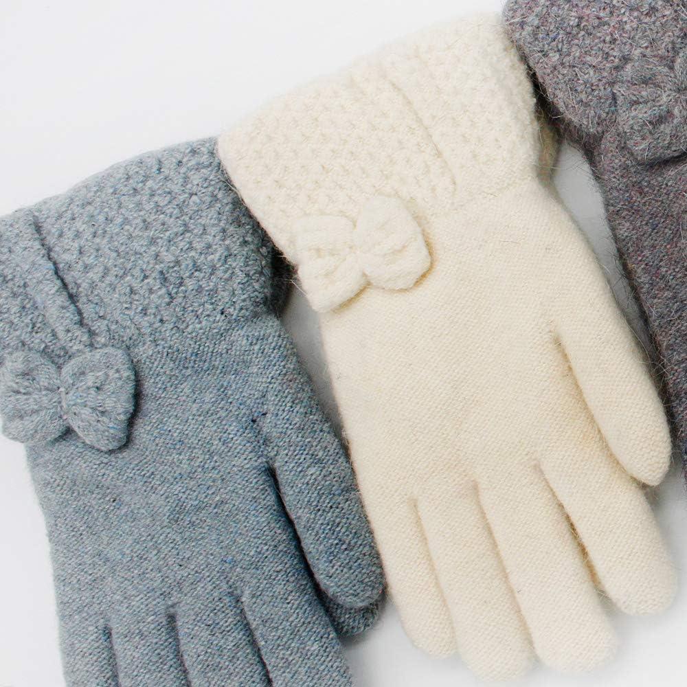 CERF BELL Winter Gloves, Leopard Knitted Fingerless Gloves (2 Pack)