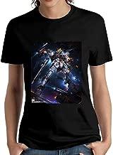 HUIPINGNI Women's Battle Ready Rx-93 The Gundam 2 T-Shirt Short Sleeve