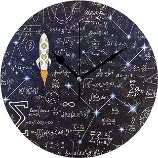 Chovy 掛け時計 置き時計 北欧 おしゃれ かわいい サイレント 連続秒針 壁掛け時計 インテリア 数学公式 黒 ブラック 可愛い かわいい 部屋装飾 子供部屋 プレゼント