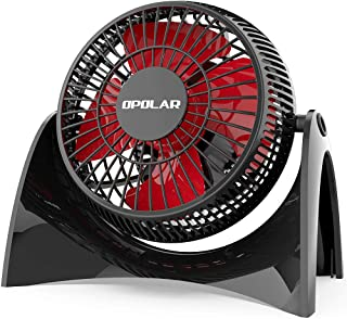 OPOLAR Super Quiet Desk USB Fan, Maximal 40db, Perfect Table Fan, Small Size, 2 Speeds, 360° Rotating Free Adjustment Pers...