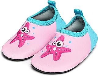 JIASUQI Baby Boys and Girls Barefoot Swim Water Skin Shoes Aqua Socks for Beach Swim Pool