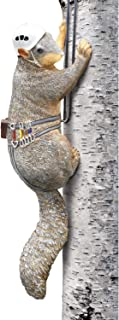 WHAT ON EARTH Outdoor Hand Painted Squirrel Tree Climber Sculpture - Fun Garden Statue