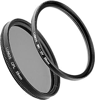 Lumos filtro Set Pro Compatible con Sony DSC-HX400V Cámara también HX300/55mm filtro polarizador circular & Slim MC UV Filter mehrfach vergütet