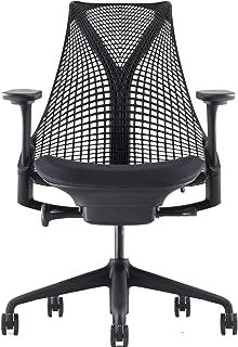 【正規品】 Herman Miller (ハーマンミラー) セイルチェア オフィスチェア ブラック/コスモス:ノアール フルアジャスタブルアーム BBキャスター 12年保証 AS1YA23AAN2BKBBBKBK9115