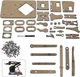Yolopay - Robot Arm Kit Tool Parts DIY Robot Arm Claw For Arduino Kit Mechanical Grab Manipulator Assembled Gifts For DIY