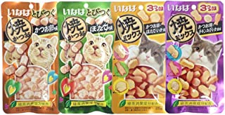 INABA cat snacks soft bits. Tuna and chicken tenderloin mixed 4 flavors Lift Pack (25 g. X 4 pack).
