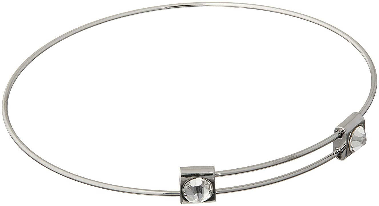 Cousin DIY Create Your Style Adjustable Bangle Bracelet, Made with Swarovski Crystal