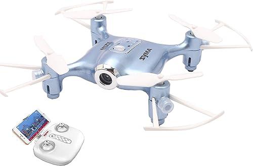 MBEN Mini-Drohne, PVF-Echtzeit-Bildübertragung mit Vier Achsen, Flugbahn, Schwerkraftmessung, Headless-Modus, intelligente H , geeignet für Anf er und Erwachsene,Blau