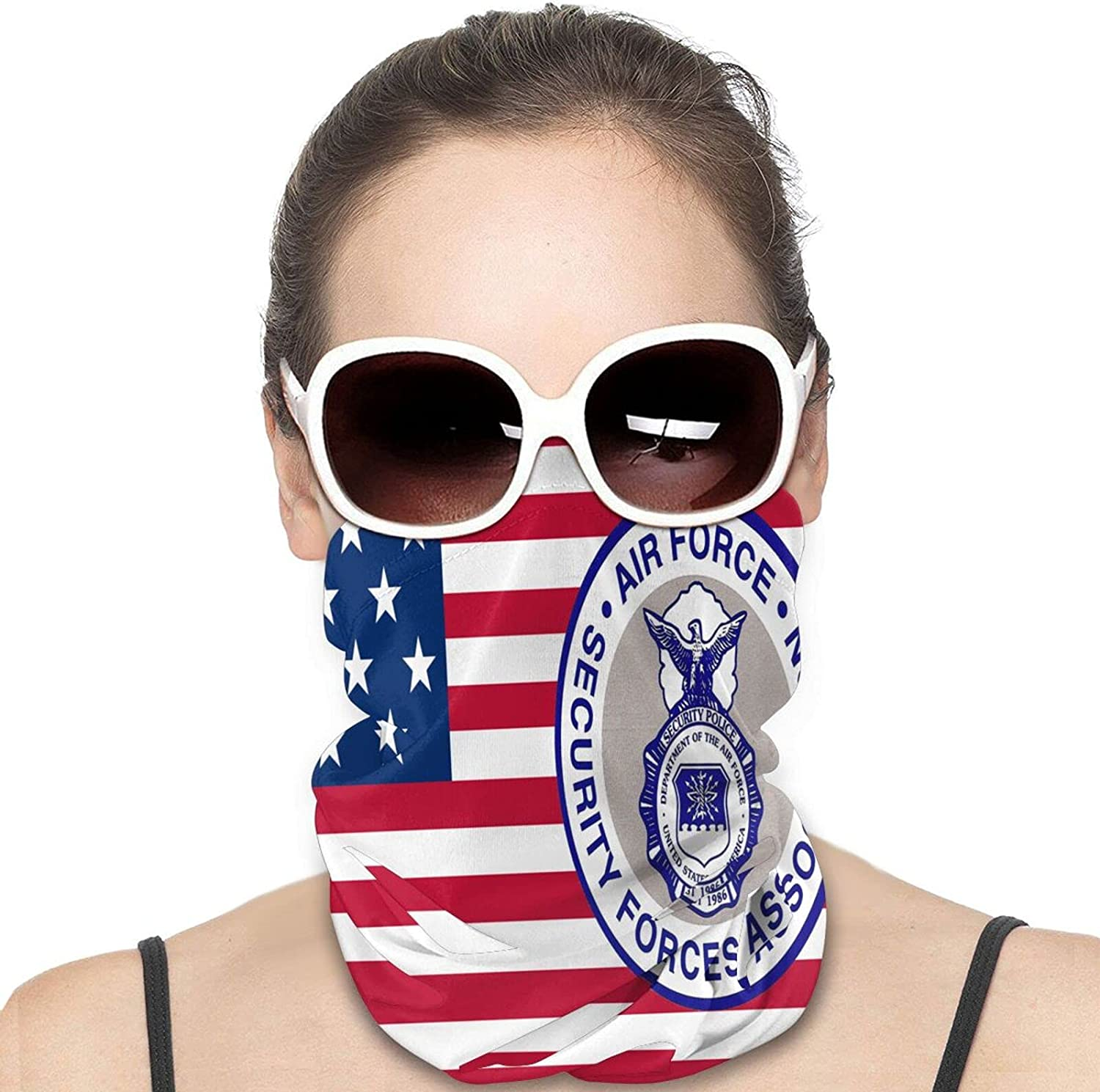 USAF Security Forces Round Neck Gaiter Bandnas Face Cover Uv Protection Prevent bask in Ice Scarf Headbands Perfect for Motorcycle Cycling Running Festival Raves Outdoors