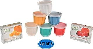 HOME-X Plastic Dessert Molds with Lids, Reusable Cups for Jello, Gelatin, Ice Cream