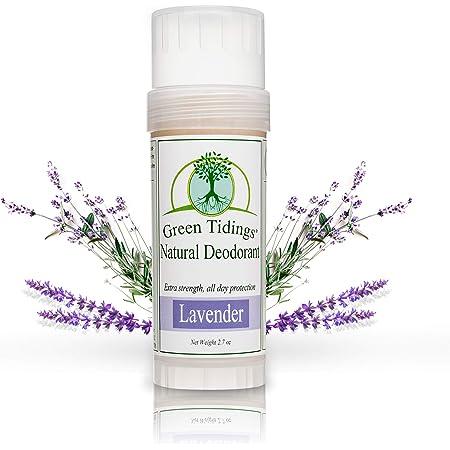 Green Tidings Natural Lavender Deodorant | Vegan, Organic Deodorant for Men and Women, Fragrance Free & Aluminum Free Deodorant, Underarm Antiperspirant 2.7 Oz 1 Pack