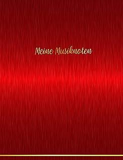 Meine Musiknoten: Notenheft | Notenpapier 12 Systeme blanko mit Register für Musik, Notizen, Texte. Für Musiker, Komponist...
