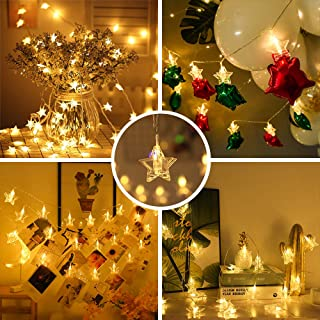 OUSFOT Photo Clips String Light, 20 FT Led Fairy Lights with 40 Clips for Pictures, Photos, Cards and Memos. Gifts Idea fo...