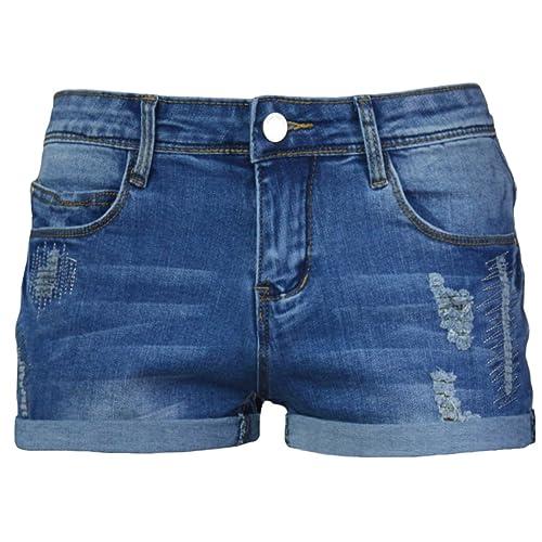 33f91e83bd PHOENISING Women's Stylish Stretchy Denim Shorts Comfy Short Pants,Size  6-20 Blue