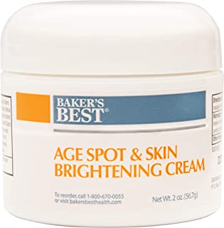 Baker's Best Age Spot and Skin Brightening Cream for Age Spots, Liver Spots, Freckles | Face Dark Spots Eraser Remover Cream | Contains Kojic Acid, Green Tea Extract - 2 Ounce